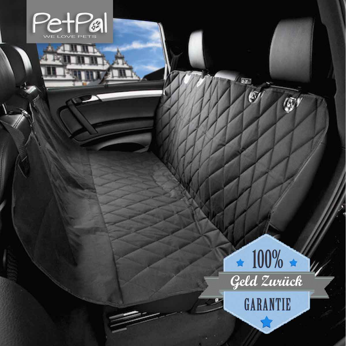 hunde autoschondecke f r die r ckbank petp l. Black Bedroom Furniture Sets. Home Design Ideas